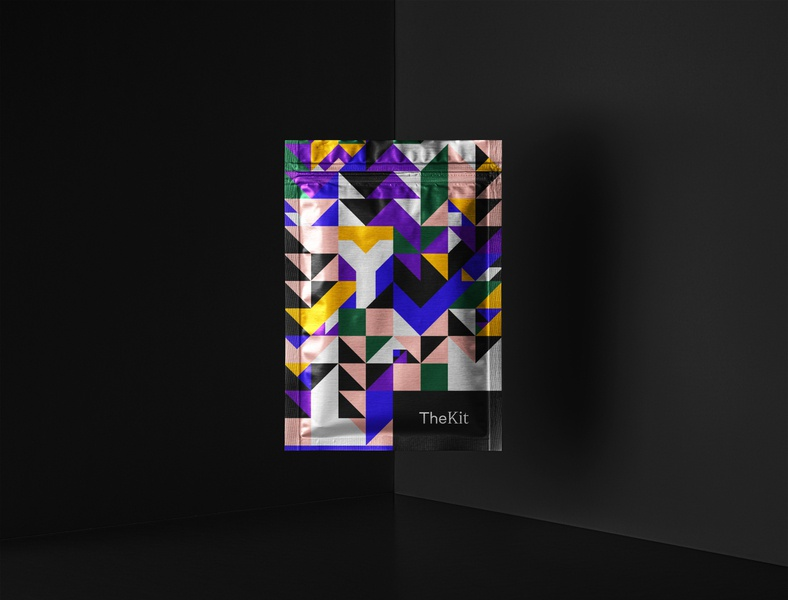 The Kit : YML traingles culture agency branding agency graphic design print minimal type brand identity palette kit package brand design shapes pattern design branding brand