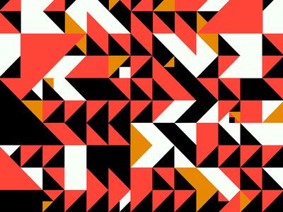 Color Study - 060319 grid pattern orange brand halloween geometic minimal color palette traingle study color