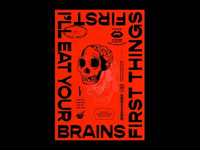 'Monster' Poster - Dribbble gopher typography poster art soup brains skull illustration orange brand type design poster design poster