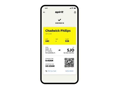 Check-In Animation travel checkin radius flights circles yellow minimal design app animation
