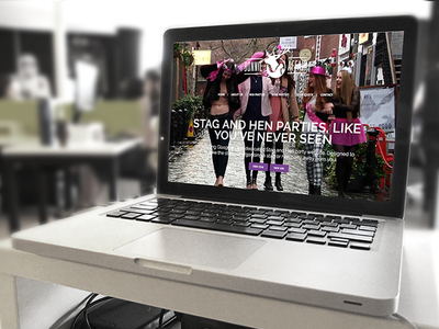 Bonnie Affair party hen stag responsive wordpress branding ecommerce