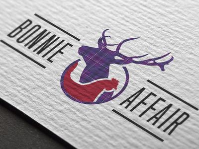 Bonnie Affair Branding tartan scotland glasgow party hen stag html development logo design branding
