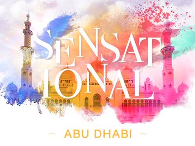 Abu Dhabi Campaign Creative photoshop web design banners press ad powder mosque abu dhabi colourful bright eshots