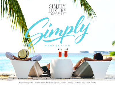 Simply Perfection print online advert indesign paradise simplistic travel holiday bliss script