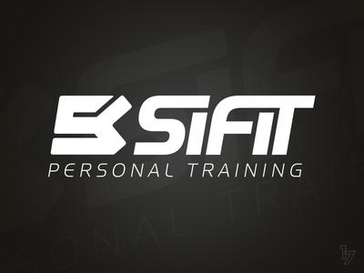 SiFit Personal Training emblem white black vector branding logo fitness training personal