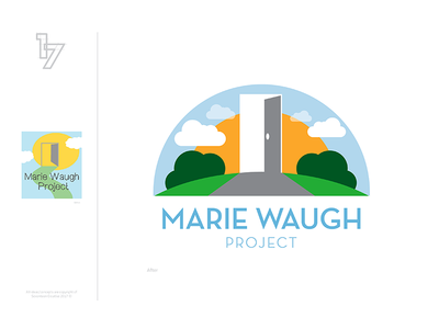Marie Waugh Project branding clean simple illustrator vector access charity logo redesign
