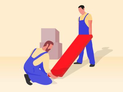 AXA Landlord Insurance drawing html ui gold landlord design illustration flat  design illustrator vector