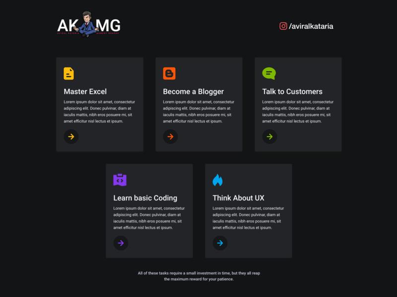 Feature Card Design ux design features dark akmg feature