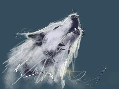 Wolf digital artworking design sketch wof wip
