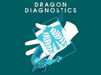 Dragon Diagnostics Poster pseudo science medical dragon design poster