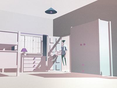 G3architecture Bedroom home artdirection lighting environment design animation