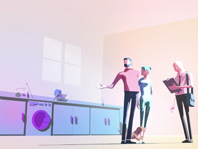 G3 Architecture characters colour light animation home architecture