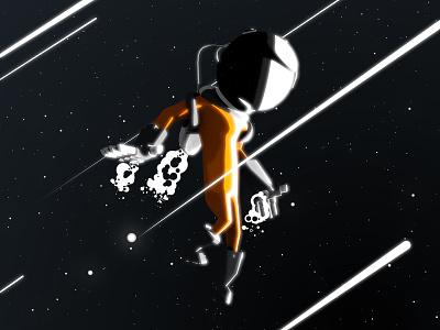 Astronaut spaceman space astro wip animation design astronaut