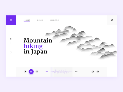 Podcasts site UI