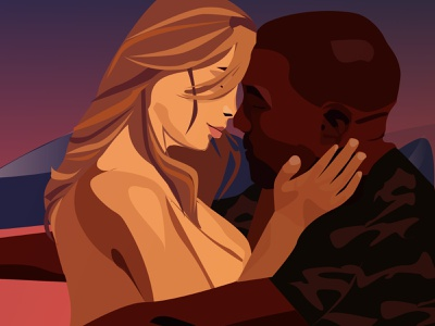 Bound 2 love fashion design rap hiphop illustration kanyewest kanye kim kardashian kim