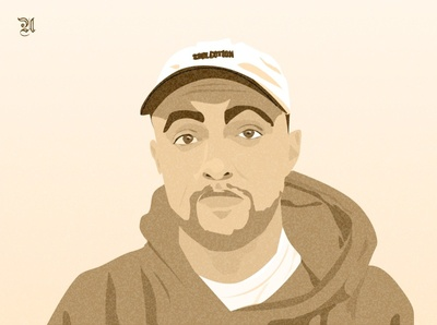 Mac Miller illustration rap hiphop rip