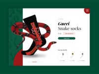 Gucci Socks Product Card UI