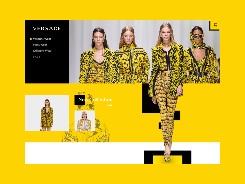 Versace Webshot Concept versace cart design ui media product clothing fashion