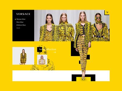 Versace Webshot Concept versace cart design ui media product clothing fashion