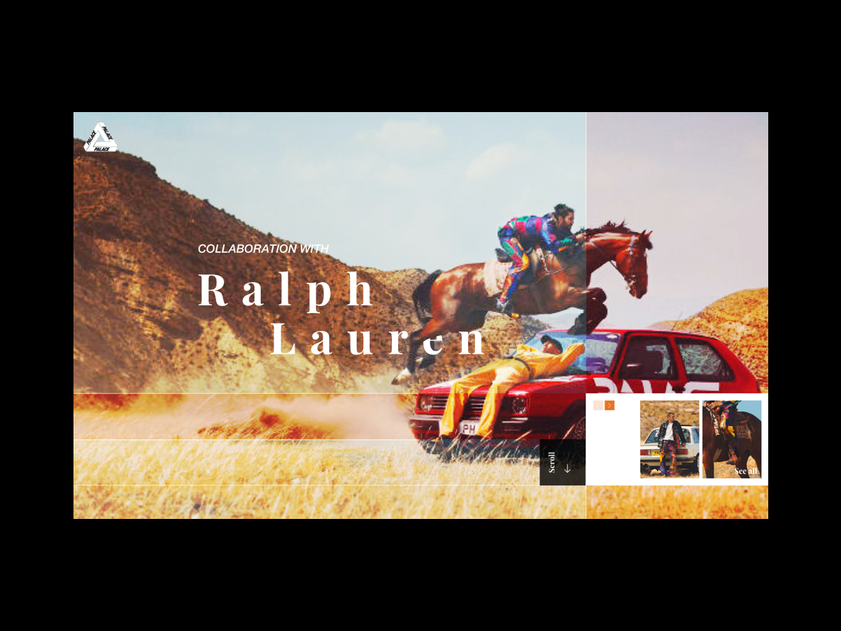 Ralph x Palace Webshot Concept palace ralph lauren ralph webshot website clothing fashion
