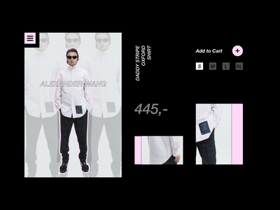 Alexander Wang Productpage Concept clothing website web interface ui alexander wang product fashion