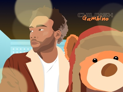 Childish Gambino bear 3005 rapper illustration hiphop