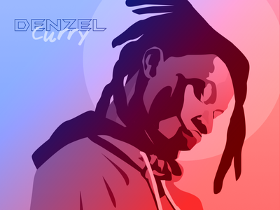 Denzel curry illustration hiphop