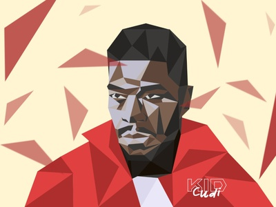 Kid Cudi triangles rappers kid cudi illustration hiphop