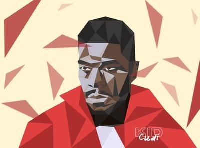 Kid Cudi triangles rappers kid cudi illustration hiphop