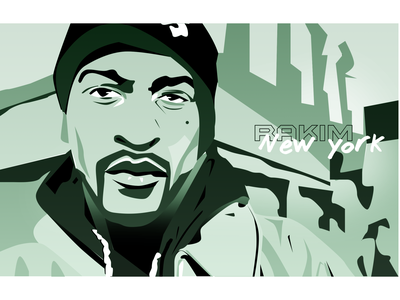 Rakim rap illustration newyork hiphop