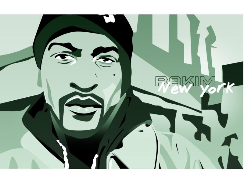 Rakim rap illustration newyork hiphop