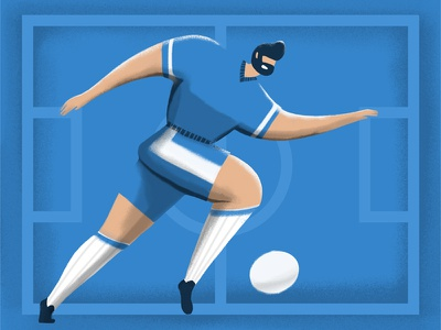 Football player blue soccer illustration ball character malipix world cup shot russia football 2018 fifa