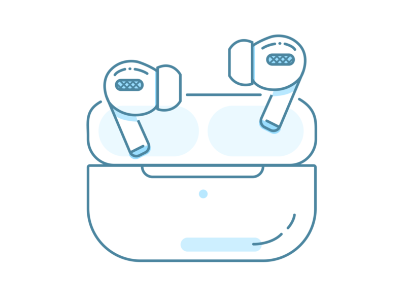 AirPods Pro illustration apple pro figma lineart illustration headphones airpodspro airpods