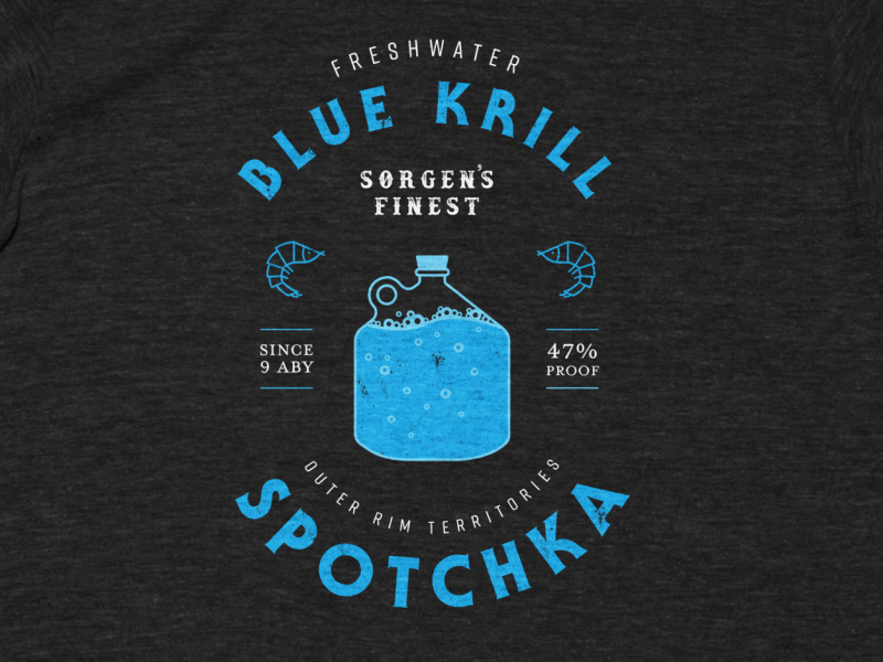 Drink Spotchka outer rim baby yoda the mandalorian design krill illustration tshirt star wars mandalorian