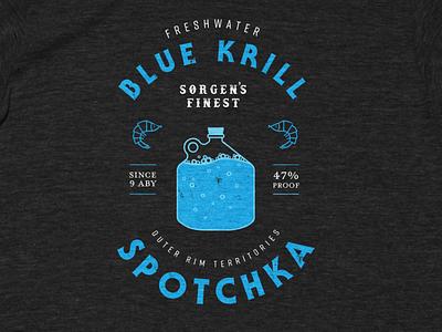 Drink Spotchka outer rim baby yoda the mandalorian design krill illustration tshirt star wars mandalorian
