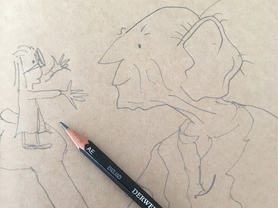 Just testing to see if I can still sketch like Quentin Blake.