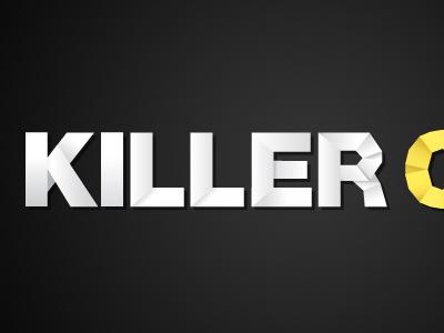 Killer origami origami logo paper typography