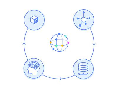 Process diagram search process diagram illustration