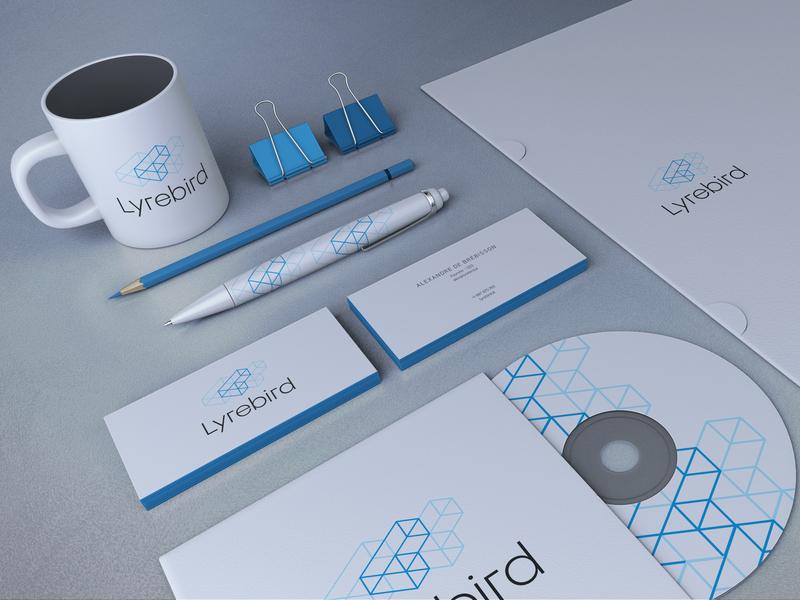 Discarded brand identity mockup logo mockup brand branding