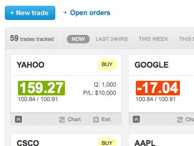 hivetrader.com web app UI ui stocks shares financial trading trade button nav app