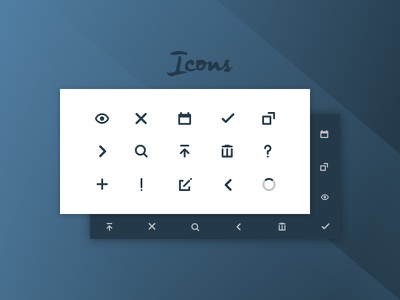 Icons calendar download pointers alert close delete preview minimal components ui set icons