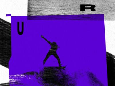Surf wave man surf