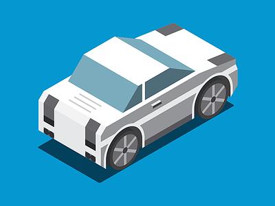 80s Ride ibm 80s icon illustration isometric auto car