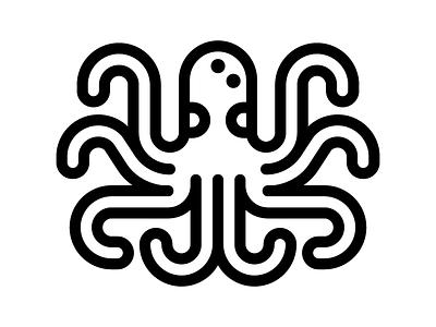 Octopus ocean wildlife icon octopus