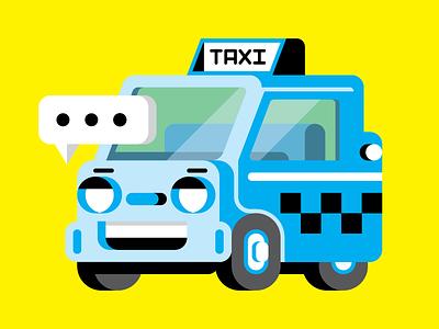 PopSci: Driverless Taxi illustration vector texting robot ai taxi japan olympics