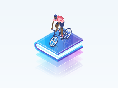 BounceX spot creativecloud adobeillustrator vector vectorart marketingcloud cloud tech characterdesign cycling illustration isometric
