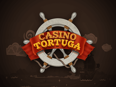 Tortuga - logo illustration for an amazing pirate card game logo design pirate mobile android ios cards game