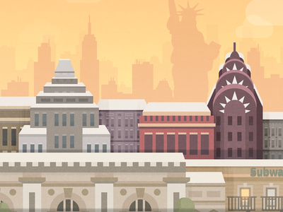 New York - illustration for a game illustration mobile york new skyline city android ios game unity
