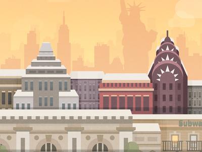 New York - illustration for a game