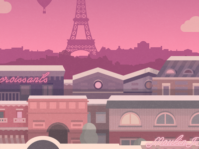 Paris - illustration for a game france paris unity skyline mobile ios illustration game city android